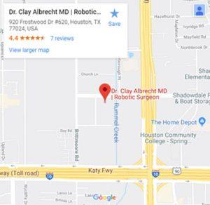 dr. clay albrecht google map